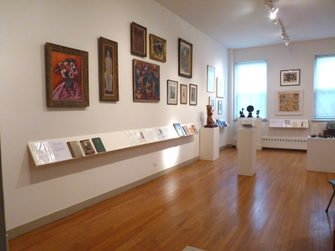 Paintings and writings by Marsden Hartley, David Burliuk, & Marc Chagall