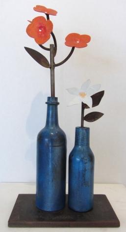 ANDERSON_David Kimball_Blue Bottles_20x9.5x5.5