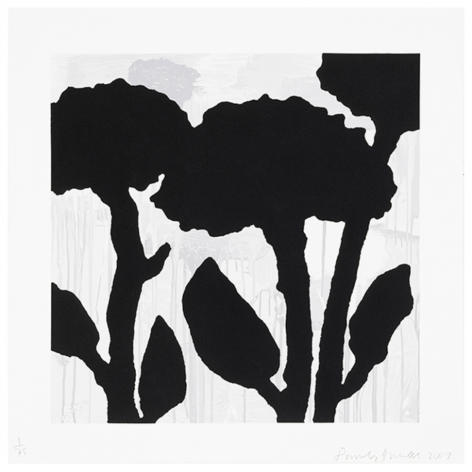 BAECHLER-Donald_Flower Study, 1_8-color silkscreen with flocking_58x58_sold