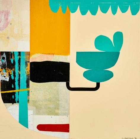 HARRIS-Alfred_Peniston Lamb_acrylic and silk on panel_18x18