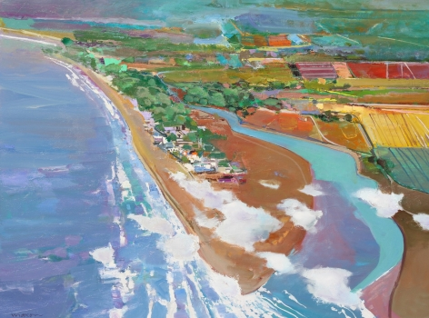 MAXON-John_Milagro_oil on canvas_36x48 inches