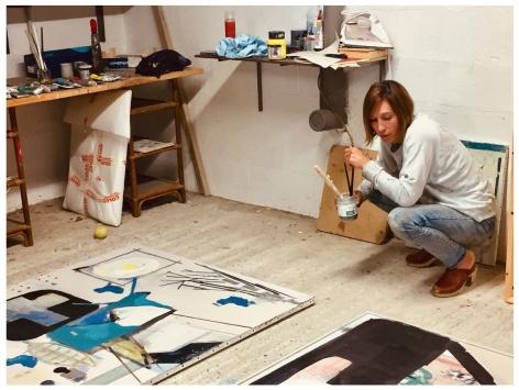 Delphine in her studio 2020_
