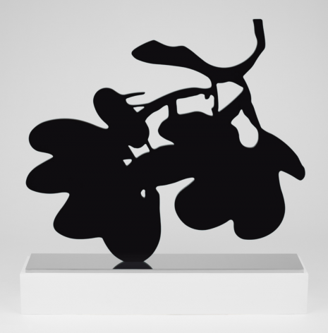 SULTAN-Donald_Big Black Lantern Flowers, May 1, 2014_painted aluminum on polished stainless steel base_59x65.75x11 inches