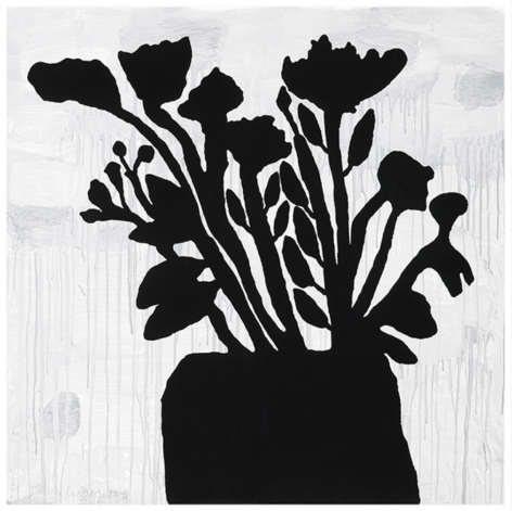 BAECHLER-Donald_Flowers in a Vase_9-color silkscreen with flocking_58x58