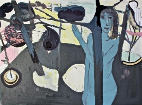HOGARTH LAFAYE-Delphine_Girl in woods_24x32
