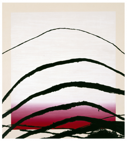 SCHNABEL-Julian_Last Attempt at Attracting Butterflies, IV_10-color silkscreen_56x51 inches