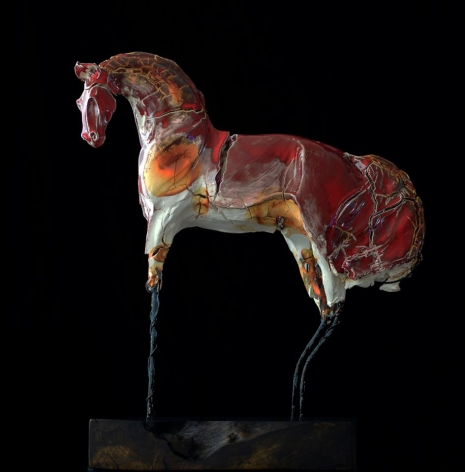 DAHL, Carl_Red Horse with Arched Neck_22x12x8