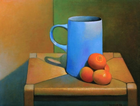 DAMIANO-Frank_Tangerines_on_a_Stool_oil on canvas