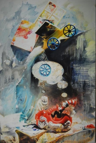 BRENNAN-Michael_Broken_Wheel_oil on canvas_72x48