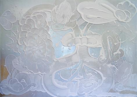 HOWE-Catherine_Blue Mica Painting (Blanca)_60x84_sW