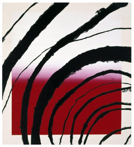 SCHNABEL-Julian_Last Attempt at Attracting Butterflies, II_10-color silkscreen_56x51 inches