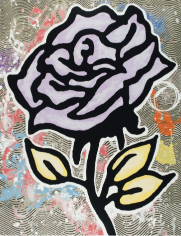 BAECHLER-Donald_Violet Rose_28-color silkscreen on museum board_40x31 inches
