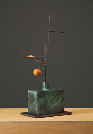 ANDERSON-David Kimball_Persimmon_bronze, steel and paint_28x12x8 inches_s