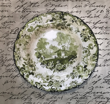 Renee_Bott_Dark+Green+Plate_17x17_2021