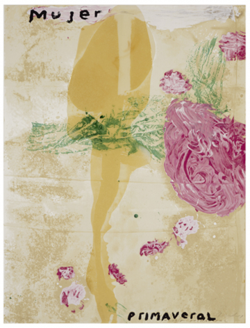 SCHNABEL-Julian_Mujer Primaveral_hand-painted, 15-color silkscreen with poured resin_40x30 inches