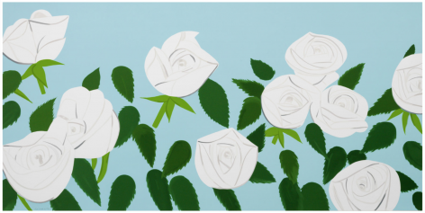 KATZ-Alex_White Roses_16-color silkscreen on paper_43x86 inches-sold