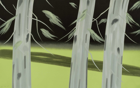 KATZ-Alex_Three Trees_20-color silkscreen print_37x59 inches