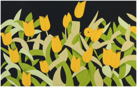 KATZ-Alex_Yellow Tulips_15-color silkscreen on museum board_48x77 inches-sold