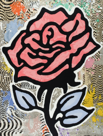 BAECHLER-Donald_Red Rose_28-color silkscreen on museum board_40x31 inches