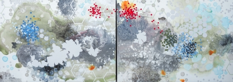 PATTERSON-Heather_Uncharted Territory (diptych)_30x84_mixed media on panel_s