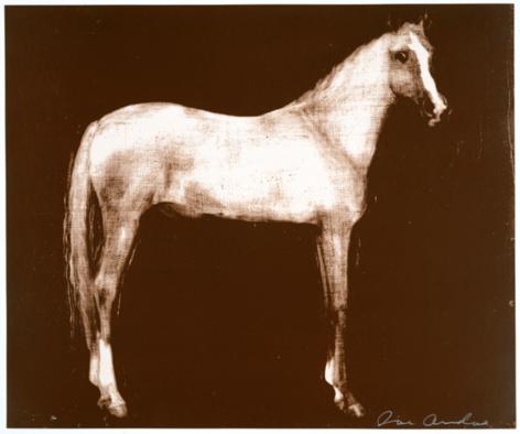 ANDOE-Joe_Horse X 12 (Brown), 11-color silkscreens, 40 x 48 inches