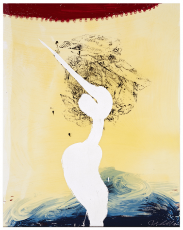 SCHNABEL-Julian_Bandini (His Foe Pursued)_hand-painted, 17-color silkscreen with poured resin_45x36 inches