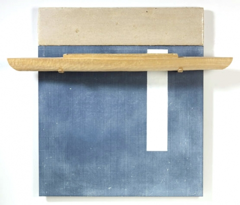 RUDDELL-David_Blackboard with White Stripe-Poplar Boat_27x32x5