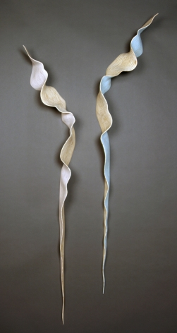 SANSOM REYNOLDS-Nancy_un.furl pink and blue twists_68x14x6