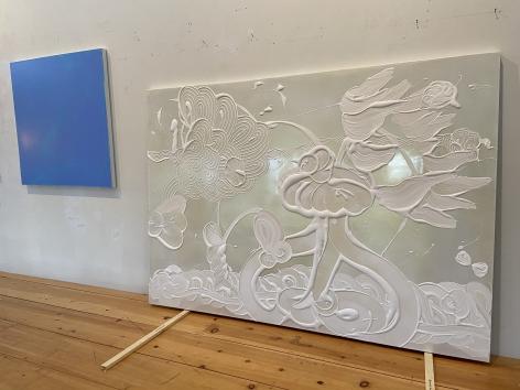HOWE-Catherine_Mica Painting (Calypso)_2021_60x84_in-studio_sW