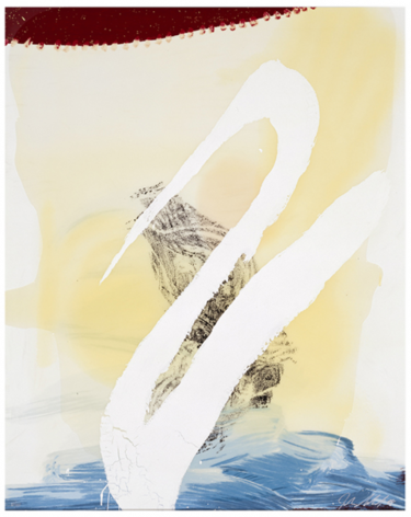 SCHNABEL-Julian_Allen (Cordial Love)_hand-painted, 15-color silkscreen with poured resin_45x36 inches