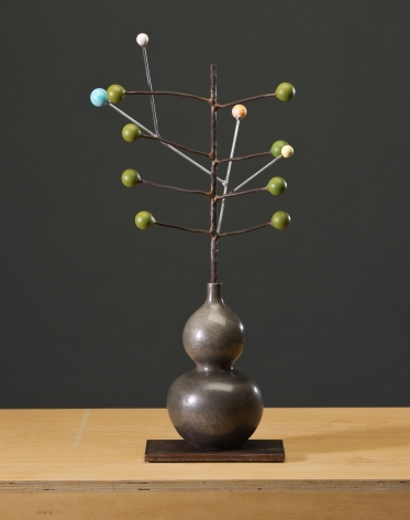 ANDERSON-David Kimball_Seeds and Planets_bronze, steel and paint_23x9x7 inches_s