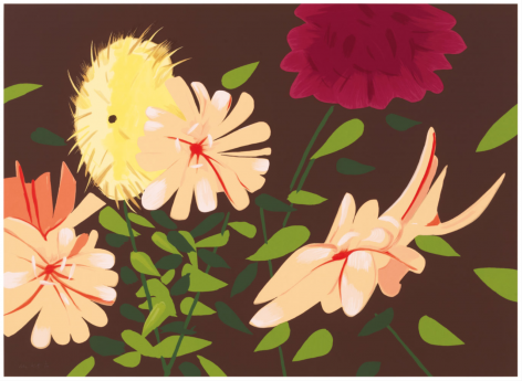 KATZ-Alex_Late Summer Flowers_38-color silkscreen on museum board_40x55 inches-sold