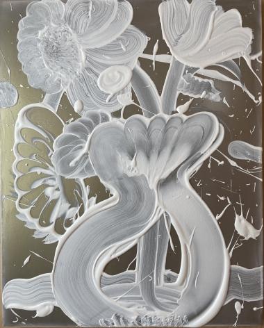 HOWE-Catherine_Dark Mica Painting (peony)_20x16