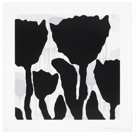 BAECHLER-Donald_Flower Study, 3_8-color silkscreen with flocking_58x58_sold
