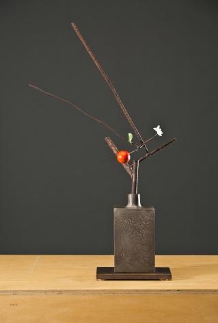 08_ANDERSON-David-Kimball_Spring (vertical rectangular bottle, silver patina) 24x18x8_Ws