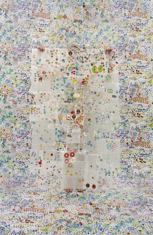 Lost in my Life (fruit stickers), 2010, archival pigment print,34 x 24 inches,60 x 40 inches, or 90 x 60 inches.