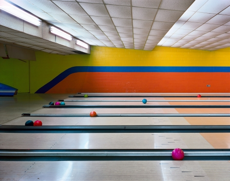 Bowling Lanes, Governors Island, NYC, from the series New York, 2004. Archival pigment print.