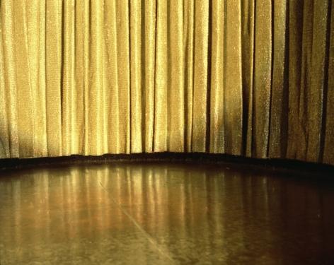 Lisa Kereszi,Gold Curtain, Resort in the Poconos, PA,2004. Archival pigment print.