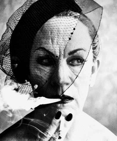 William Klein / Smoke and Veil, Paris (Vogue) (1958), 2014, Archival pigment print, 14 x 11 inches