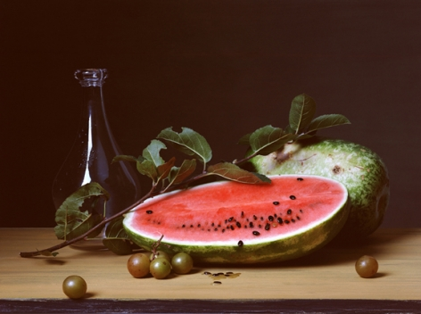 Early American, Watermelon and Apple Gourd, 2007. Chromogenic print,23 1/4x 17 inches.