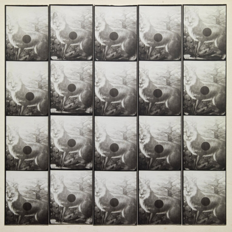 Untitled, PB #1082, 1974. Vintage gelatin silver photobooth prints, 7 7/8 x 7 7/8 inches.