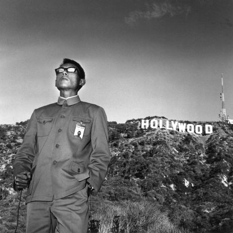 Tseng Kwong Chi,Hollywood, California, 1979. Gelatin silver print, 16 x 16 inches.