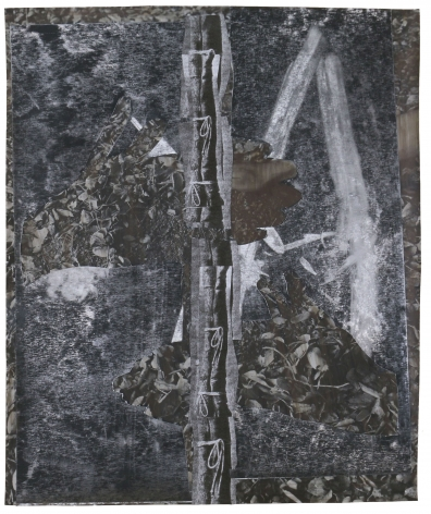 Dionne Lee,Fire Starter (2),2020. Collage of gelatin silver prints, cut paper, with graphite. 16 1/2 x 13 7/8 inches.