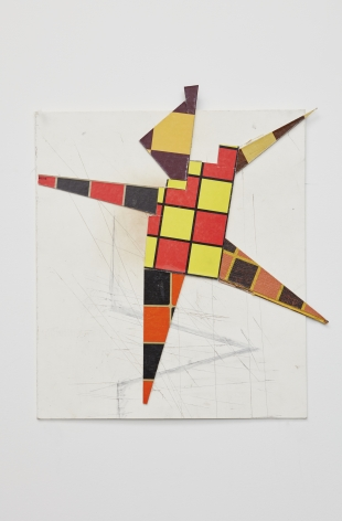 Dancer,2016. Gameboard Collage, 15 7/16 x 13 5/8 x 1/4 inches.