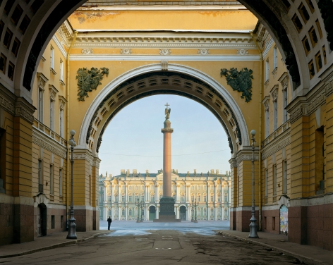 Palace Square, St. Peterburg, from the series Russia, 2003. Archival pigment print. Available at 30 x 40 inches, edition of 10, or 40 x 50 inches, edition of 5, or 50 x 60 inches, edition of 3, or 70 x 90 inches, edition of 3.