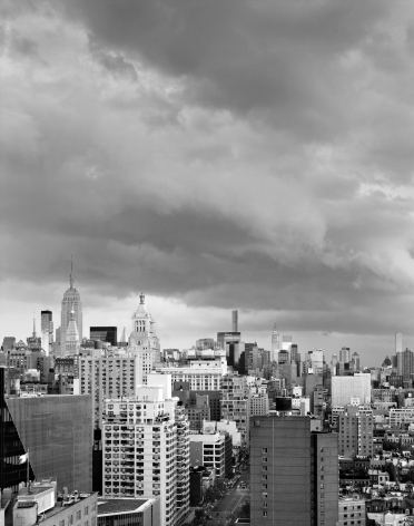 Clouds #76, New York City, from the series Rocks and Clouds, 2015. Gelatin silver print, 40 x 30 or 68 x 54 inches.