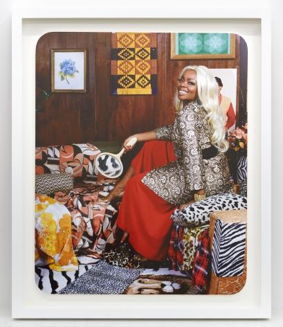Mickelene Thomas,Din Avec La Main Dans La Miroir, 2008. Chromogenic print, image dimensions 19 1/2 x 15 3/4 inches, framed dimensions 23 1/4 x 19 1/2 inches.,