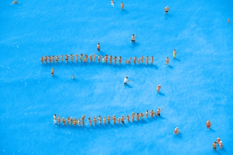 Adriatic Sea (Staged) Dancing People 14, 2015.Archival pigment print.65 x 96 inches.Edition of 7.