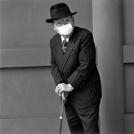 An Older Man With a Penetrating Gaze, 2001. Gelatin Silver Print. 14 x 14 inches, Edition of 20