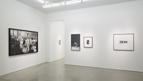 Installation view Vik Muniz, Wolfgang Tillmans (in back room), Laurie Simmons (x2), Christopher Williams